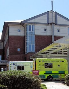 External view of Blackpool Teaching Hospital's A&E department