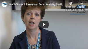 Click on the image to listen to Sarah Keighley, Health Visitor Team Leader