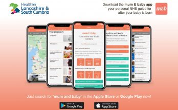 download the mum and bay app, your personal NHS guide for after your bay is born. Just search for mum and baby in the apple store or google play store now!