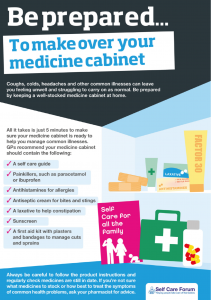Image showing the items that should be in a medicine cabinet